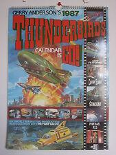 THUNDERBIRDS CALENDAR 1987 UFO STINGRAY JOE 90 CAPTAIN SCARLET  GERRY ANDERSON