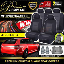 Premium Black Holden VF Sports Wagon Seat Covers 2ROW SS SSV SV6 EVOKE 6/2013-18