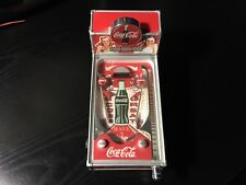 1998 COCA-COLA LIGHTED MINI MUSICAL PINBALL MACHINE COIN BANK, SOUNDS AND MUSIC