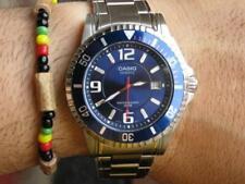 orologio casio collection da uomo acciaio analogico sportivo blu data subacqueo