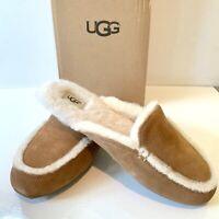 Women's UGG Slippers UK Size 6 Lane Loafer Chestnut Slip on Boxed