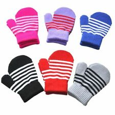 Sports Winter Soft Knitted Mittens Baby Mittens Full Finger Gloves Thickened