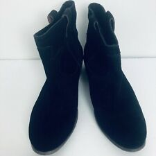 Lucky Brand Black Suede Boots Size 11 Medium