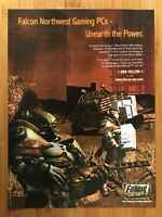 Fallout Tactics PC 2000 Print Ad/Poster Official Falcon Northwest Computers Art