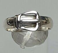 925 Silber Ring Gürtelschnalle im Art Deco Stil - RG 65/20,6 mm /A628