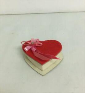 Vintage Dollhouse Miniature Valentine Heart Gift Box Cardboard 1:12  Unmarked