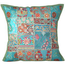 Cover Throw Indian Cushion Pillow Case Pillows Sofa Ethnic Work Decor Square Art