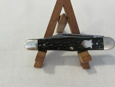 Vintage Camillus USA #72 - 3 Blade Folding Pocket Knife Bone Look Handle