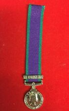 General Service Medal GSM With Air Operations Iraq Clasp Bar Miniature
