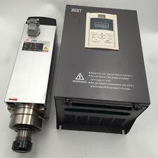 7.5KW ER32 Square Spindle Motor Air-Cooled 380V 4Bearing + 11KW VFD Inverter Kit