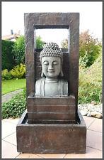 Grosser BUDDHA Brunnen Modern 109 Cm Ho Gartenbrunnen Wasserwand 4 X LED Licht