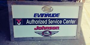Johnson Evinrude Outboard  Dealer Sign
