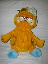 Vintage PLUSH GARFIELD PAJAMA KEEPER Overnight Bag Zippered Stuffed Animal Dakin