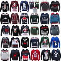 NUOVO Natale maglione DIVERTENTE GREZZO DONNA UOMO GADGET lavorato a maglia