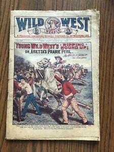 vintage 1918, 1919, 1920 3 Issue Wild West Weekly Magazine