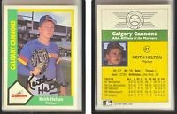 Keith Helton Signed 1990 Calgary Cannons CMC #21 Card Calgary Cannons Autograph