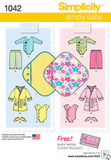 Simplicity SEWING PATTERN 1042 Baby Clothes/Layette XXS-L