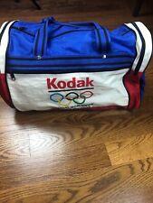 Vinta Kodak Worldwide Olympic Sponsor Duffel Bag Duffle Gym Travel Tote 1980's