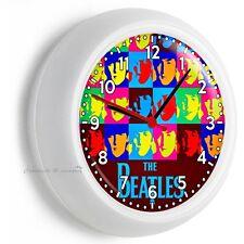 THE BEATLES POP ART JOHN GEORGE PAUL RINGO WALL CLOCK BEDROOM TV ROOM HOME DECOR