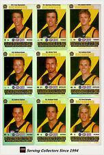 2008 AFL Teamcoach Trading Card Silver Team set Richmond (10)