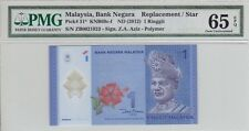 ZB 0021923 RM1 Polymer Zeti PMG UNC 65 EPQ Malaysia