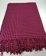 New Tassel Pink Scarf Long Wrap Women Shawl Lady Stole Houndstooth From Taiwan