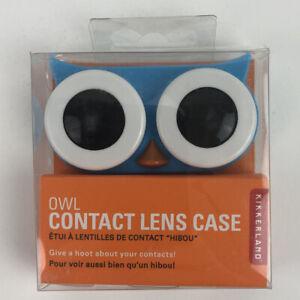 Owl Contact Lens Case Blue Kikkerland