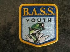 Rare Vintage Mint Old Logo B.A.S.S. Youth Patch - 2 1/2 x 3 inch