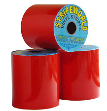 100mm Self Adhesive Red Vinyl Stripe for car, boat or caravan sold by the metre.