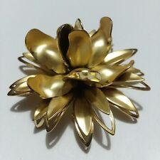 Pin Brooch Z05 Coro Gold Tone Flower