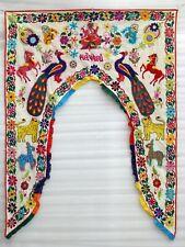"""Ethnic Vintage Door Valance Toran Hand Embroidered Door Topper Hanging 42"""" L"""