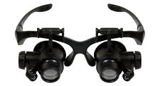 Magnifier Magnifying 17X Eye Loupe Glasses Jewelers Watch Lighted Multi Lens