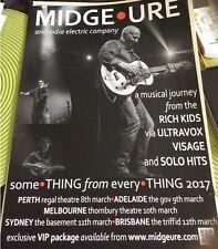 Midge Ure Australian Tour Poster March  2017 40 X 30 Cm