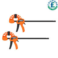 2 pcs Quick Grip Wood working Bar Clamp Flip-series 60x300mm Clamping Force 70kg