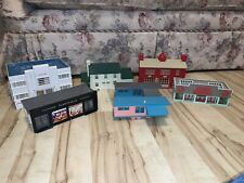 8 Plasticville O-Scale Houses, Buildings, Telephone Poles, Street Lights