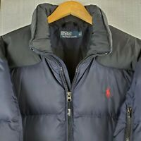 Rare POLO RALPH LAUREN Size XL Mens Goose Down Winter Puffer Jacket Coat Blue