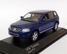 Minichamps 1/43 Scale 400 052000 - 2002 Volkswagen Touareg - Blue
