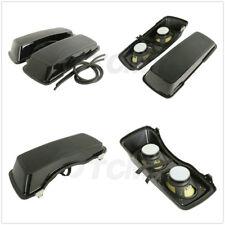 "Dual 6""x9"" Speakers Saddlebag Lids For Harley Touring Road King Glide 1994-2013"