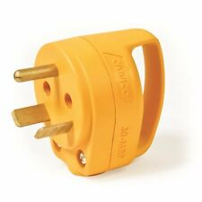 CAMCO RV 30A MINI Replacement Plug - Yellow Male Power-Grip End - 55283 Camper