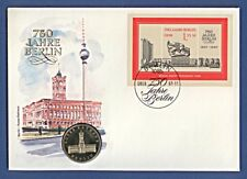 Numisbrief 750 Jahre Berlin Rotes Rathaus 5 DDR-Mark A + Stempel 1987 NBA14/36