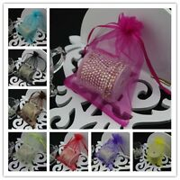100pcs 15x20cm Sheer Organza Wedding Party Favour Gift Candy Bag Jewellery Pouch