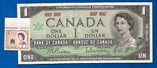 1967 CANADA Canadian ONE 1 DOLLAR BILL NOTE CRISP UNC w stamp