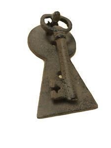 New Cast Iron Retro Rustic Antique Style Key Door Knocker Feature Free Postage
