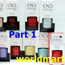 CND Shellac Polish Gel Color Base Top Coat /Choose Any Color PART 1*