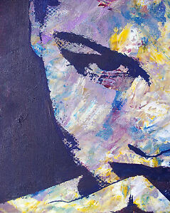 SIZE CANVAS modern painting style Graffiti Street Art  Print girl woman face