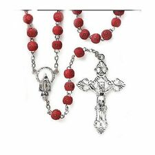Rose Scented Petal Wooden Rosary Beads with Rosary Prayer -Perfect Gift