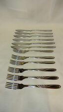 Retro 12 Piece Fish Cutlery Set - 6 Knives & 6 Forks Firth Stainless