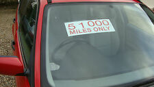 car sale miles only selfcling window screen stickers pack of 5