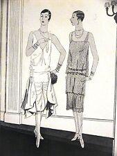 Femenil Art Deco FLAPPER DRESSES by WORTH 1926 Spanish Fashion Ad Matted