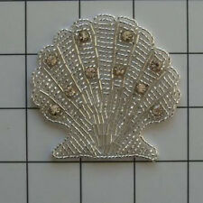 RHINESTONE BEADED SEASHELL APPLIQUE 2363-A